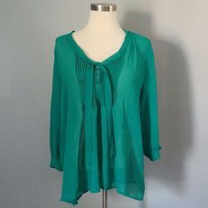 Green flowy blouse